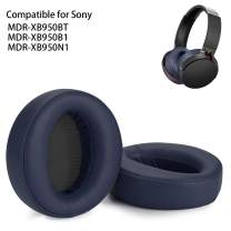 WADEO Replacement Ear Pads Earpads Cup Cover Memory Foam Cushion for Sony MDR-XB950BT XB950B1 XB950N1 Bluetooth Wireless Headphones, 2 Pieces Blue