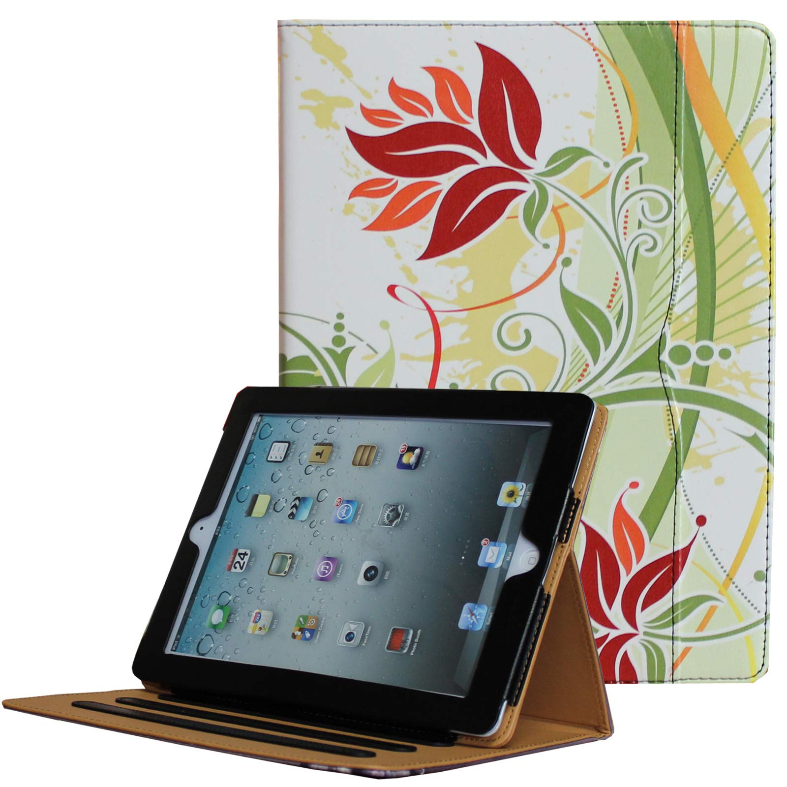 for iPad 9.7 6th/5th Generation 2018/2017, iPad Air/Air 2 Case, JYtrend Multi-Angle Viewing Stand Folio Smart Cover with Pocket for A1893 A1954 A1822 A1823 A1474 A1475 A1476 A1566 A1567