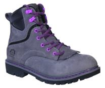 "King's by Honeywell KWLK02 6"" WOMEN'S Steel Toe Welted Leather Work Boot, Gray, Size 5.5"