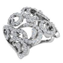 1.27 ct tw Fashion Band Filigree Diamond Cocktail Ring 14K Gold
