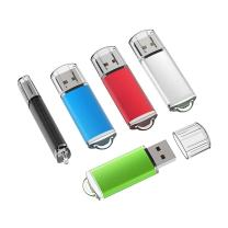 TOPESEL 5 Pack 16GB USB 2.0 Flash Drive Memory Stick Thumb Drives (5 Mixed Colors: Black Blue Green Red Silver)