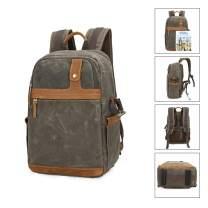 Outdoor Camera/Travel Backpack DSLR Camera Case Camera/Lens/Tripod/Laptop Bag (Pitch Green)