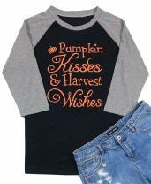 Pumpkin Hisses Harvest Wishes Shirts Women's Pumpkin Fall Graphic Shirt Top Plus Size