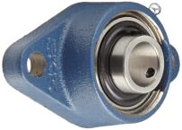 SKF FYTB 20 TF Ball Bearing Flange Unit, 2 Bolts, Setscrew Locking, Regreasable, Contact Seal, Cast Iron, Metric, 20mm Bore, 71.4mm Bolt Hole Spacing Width