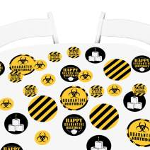 Big Dot of Happiness Happy Quarantine Birthday - Social Distancing Party Giant Circle Confetti - Party Decorations - Large Confetti 27 Count