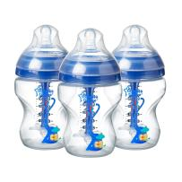 Tommee Tippee Advanced Anti-Colic Baby Bottle, Slow Flow Breast-Like Nipple, Heat-Sensing Technology, BPA-Free - Blue - 9 Ounce, 3 Count