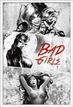 """Trends International DC Comics - Harley Quinn - Catwoman - Poison Ivy - Bad Girls Wall Poster, 22.375"""" x 34"""", White Framed Version"""
