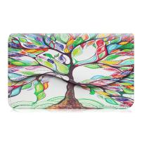 Business Card Holder/Credit Card Wallet, Fintie Premium PU Leather Handmade Universal Card Case Organizer with Magnetic Closure, Love Tree