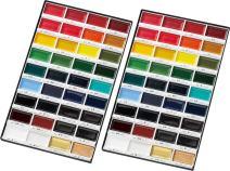 Kuretake gansai tambi 36 colors set, (1-2 set) watercolor, fine art, for artist (36 colors (2 set))