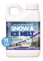 Snow and Ice Melt Granules, Fast Acting Treatment, Magnesium Chloride Ice Melt Pellets, Plant & Pet Safe Ice Melts, Eco-Friendly Deicer, Lasts x3 Times Longer, 11 lb Jug