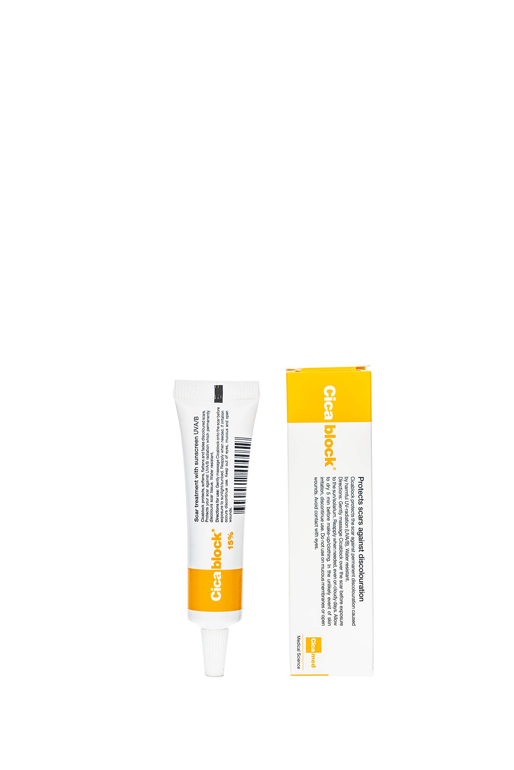 Cicablock, Scar Sun Protection UVA/UVB Sunscreen, Cicamed Organic Science