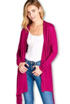 Women Long Duster Maxi Open Front Casual Soft Bamboo Cardigan - Made in USA