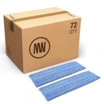 "Bulk 18"" Premium Microfiber Wet Mop Pad | Wholesale Professional Microfiber Mop Pad Refills | Case Quantity (72 Count)"