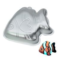 GXHUANG 9.45 inch Aluminum Alloy Fish Cakes Bake Mold Cake Baking Pan (Fish)