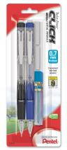 Pentel Twist Erase CLICK Automatic Pencil with 2 Eraser Refills and Lead, 0.7mm, Assorted Barrels, Color May Vary, 2 Pack (PD277TLEBP2)