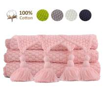 JSHANMEI Cozy Soft Cotton Throw Blanket Travel Blanket, 51 x 70 Inch, Great for Travel or Lounging at Home