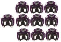 Lilypad Arduino –10 Pack of Coin Cell CR2032 Battery Holders with Switch – Save Batteries, Switch Off LEDs–Ideal for Schools & Large Projects, Pack of 10