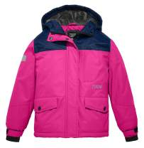 ZSHOW Girls' Waterproof Ski Jacket Hooded Fleece Lined Winter Coat Raincoats