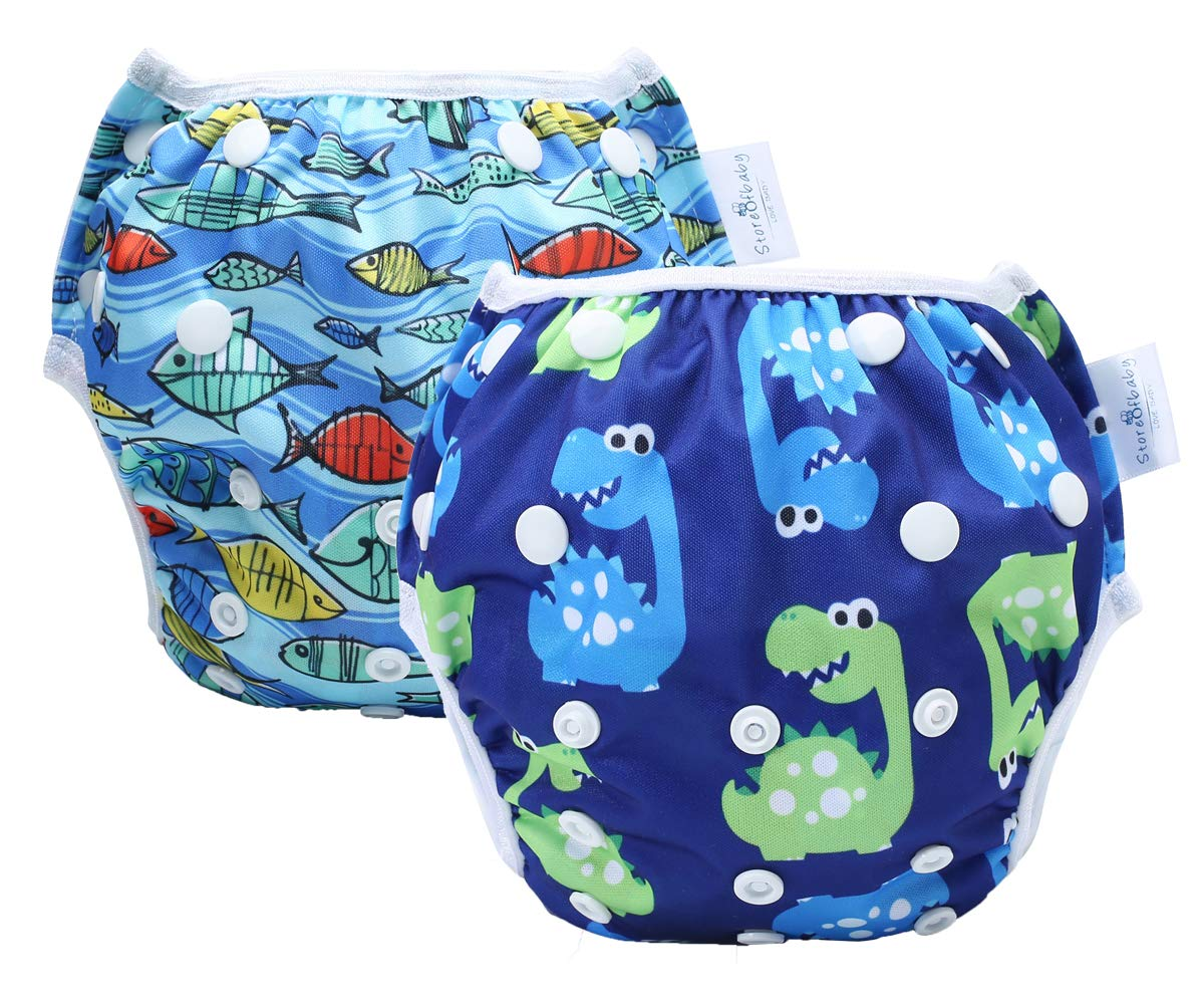 storeofbaby Reusable Beach Diaper Washable Swimsuits for Babies 0-3 Years
