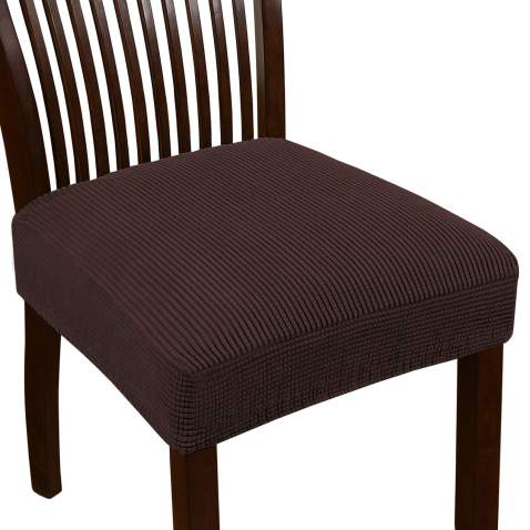 Turquoize Seat Covers For Dining Room Chairs Dining Chair Seat Cover Jacquard Dining Chair Covers Set Of 4 Kitchen Chair Covers Removable Chair Seat Cushion Slipcovers For Dining Room 4 Pack Brown
