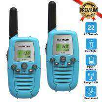 HUNICOM Toy Walkie Talkies for Kids, Clear Sound Kids Walkie Talkies, Friendly Design Toddlers Walkie Talkies Toy for Boys and Girls, Kids Walky Talky for Family Activities, Camping, Hiking, Biking