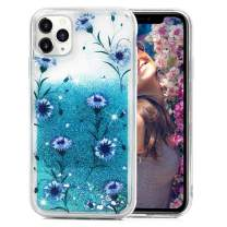 iPhone 11 Pro Max Glitter Case, Bling Shiny Sparkle Sequin Liquid Luxury Pretty Soft Shockproof Flowing flash Flower Dual Layer Clear TPU Bumper Drop Protective Case for iPhone 11 Pro Max,Cherica