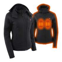 Milwaukee Leather Heated Textile Women's Soft Shell hoodie Jacket - Battery Pack Included (BLACK, 4X)