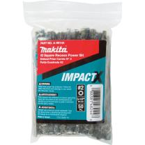 Makita A-99144 Impactx #2 Square Recess 3-1/2″ Power Bit, 50 Pack, Bulk