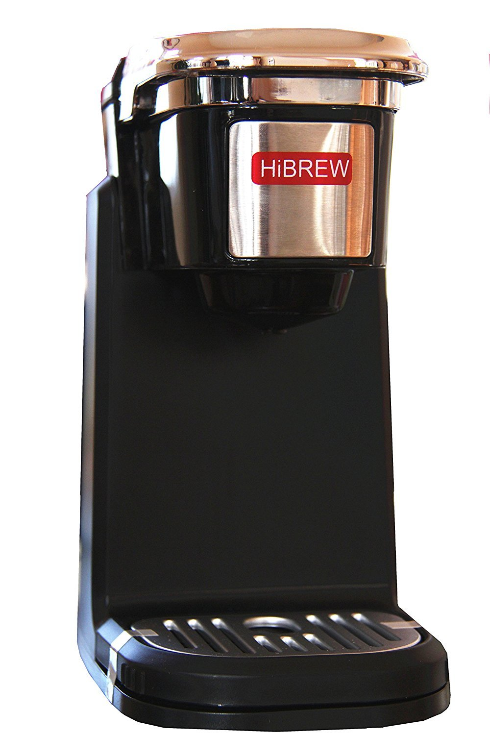 HiBREW Single Serve Travel Size Portable Compact K Cup Coffee Maker Brewing System Coffee Machine with Detachable Lid Easy to Wash (BLACK)