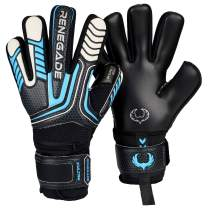 Renegade GK Vulcan Goalie Gloves with Microbe-Guard (Sizes 6-11, 4 Styles, Level 3) Pro-Tek Fingersaves & 3.5+3MM Hyper Grip | Excellent Goalkeeper Glove for Higher Play | Based in The USA
