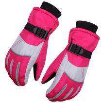 WITERY Kids Children Winter Warm Gloves Outdoor Sports Full-Fingers Winter Thick Thermal Windproof Cold Proof Skiing Cycling Running Waterproof Mitt Gloves for Unisex Kids Children