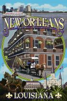 New Orleans, Louisiana - Montage 54840 (24x36 SIGNED Print Master Art Print - Wall Decor Poster)