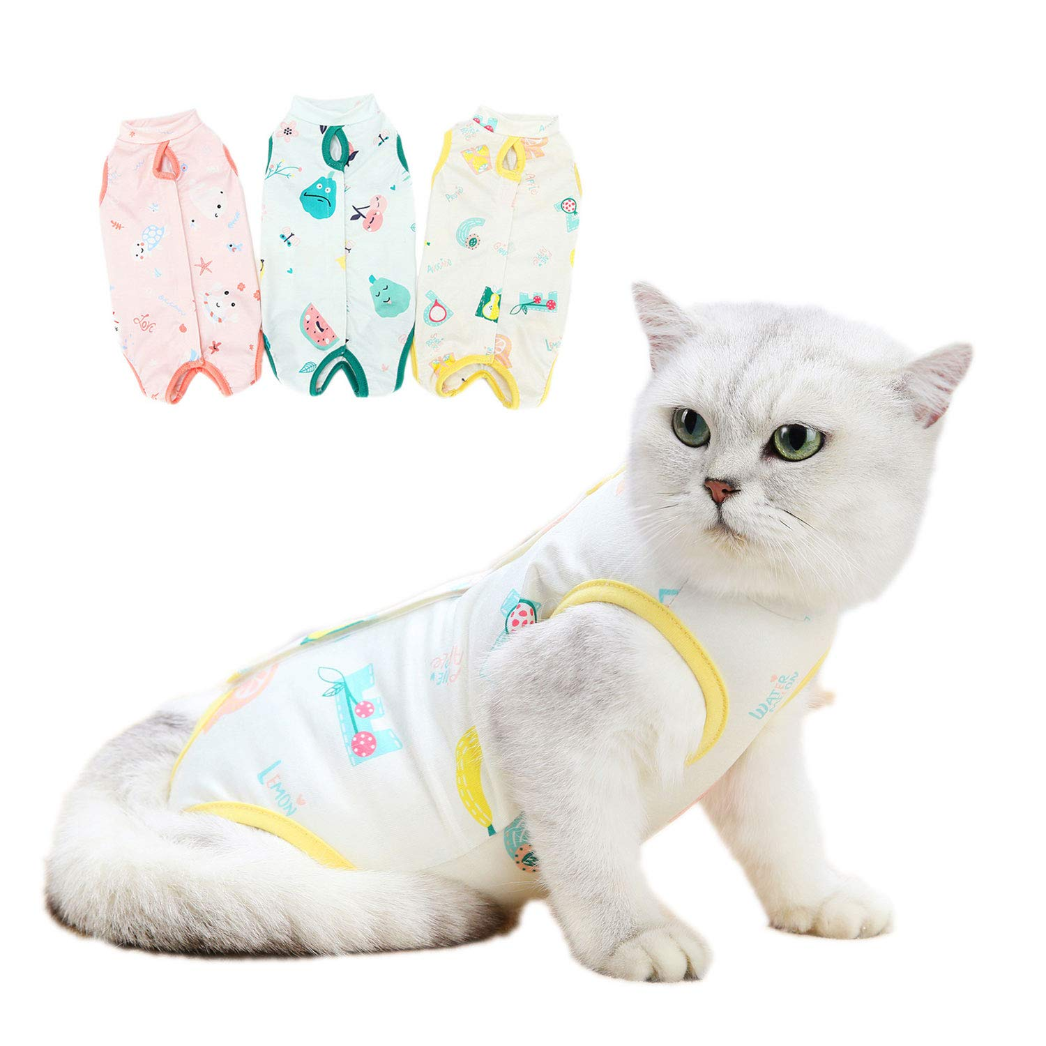 TAOZUA Cat Surgery Recovery Suit for Abdominal Wounds or Skin Diseases,Professional E-Collar Alternative After Surgery Wear Anti Licking Wounds for Cats/Dogs