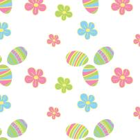 """Party Essentials Heavy Duty Printed Plastic Table Cover Available in 44 Colors, 54"""" x 108"""", Easter"""