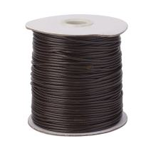 Pandahall 1Roll/93yards 1mm Thick Korean Waxed Cord Polyester Beading Synthetic Fibers Cord Thread for Jewelry Makings Coffee