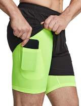 TSLA Men's Active Running Shorts, Training Exercise Workout Shorts, Quick Dry Gym Athletic Shorts with Pockets