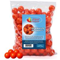 Orange Gumballs for Candy Buffet - Apx. 120 Gumballs - 2 Pounds - Shimmer Gumballs 1 Inch - Orange Candy - Bulk Candy