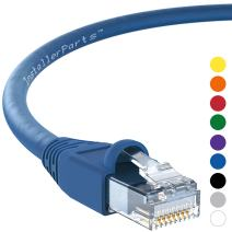 InstallerParts Ethernet Cable CAT6A Cable UTP Booted 5 FT - Blue - Professional Series - 10Gigabit/Sec Network/High Speed Internet Cable, 550MHZ