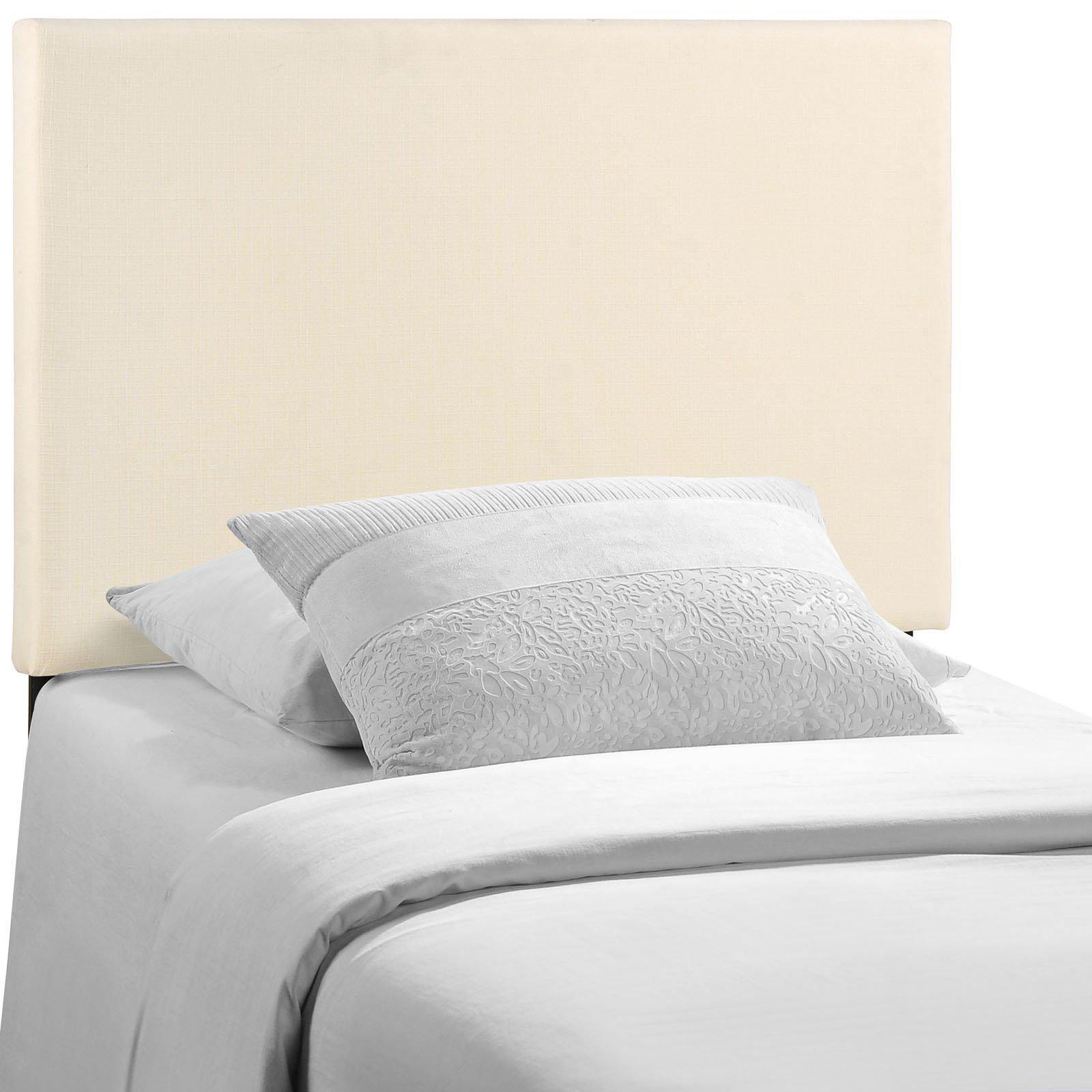 Modway Region Linen Fabric Upholstered Twin Headboard in Ivory