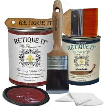 Retique It Chalk Furniture Paint by Renaissance DIY, Poly Kit, 58 Venetian Red, 32 Ounces