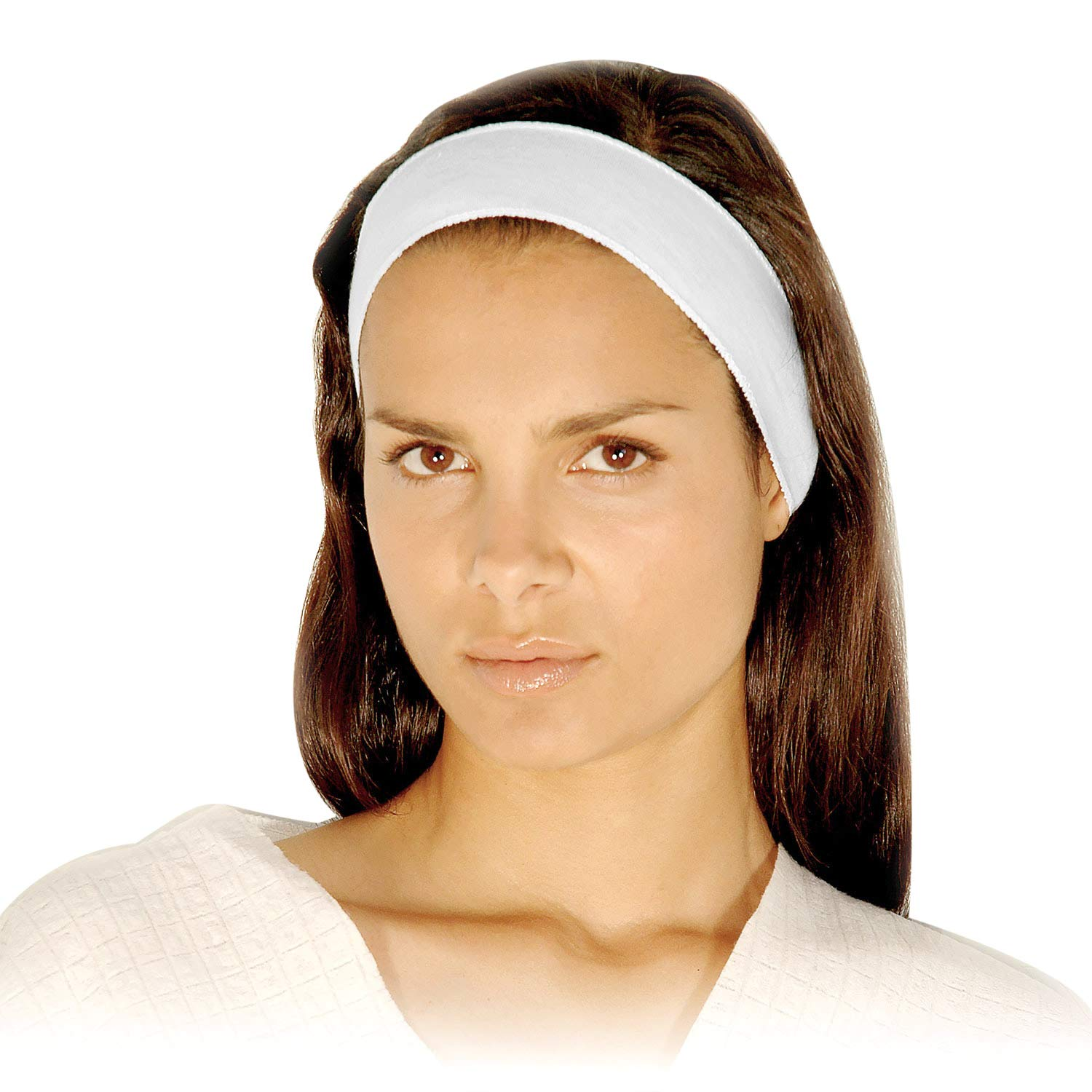 Disposable Headbands - APPEARUS Stretch Cotton Cloth Spa Facial Headband (48 Count)