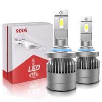 H10/9005 LED Headlight Bulbs Conversion Kit, TURBOSII X3 Series CSP Chips High Beam/Fog Light Bulb- 4200LM 6000K Xenon White