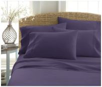 Becky Cameron ienjoy Home 6 Piece Double Brushed Microfiber Bed Sheet Set, Full, Purple