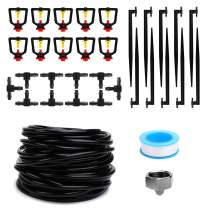 """MultiOutools Garden Irrigation System,50FT Drip Irrigation Kits with 1/4 Inch Blank Distribution Tubing Watering Drip Kit,DIY Saving Water Automatic Irrigation Equipment Set (1/4"""" tubing 50ft)"""