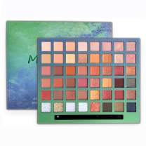 MYUANGO Profession 48 Shads Eyeshadow Soft Cream Shimmer Matte Cosmetic Pallete Pearlescent Glitter High Pigment Eye Shadow Palette Makeup Set