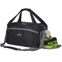 Kuston Sports Gym Bags with Wet Pocket and Shoes Compartment Travel Duffel Bag for Men&Women