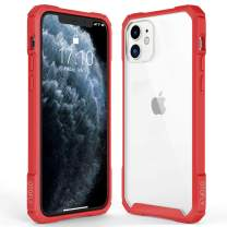 OTOFLY Crystal Clear iPhone 11 Case, Hard Plastic PC Ultra-Thin Phone Cover with Full-Body Protective Bumper Case Compatible with iPhone 11 (6.1 Inch), Red