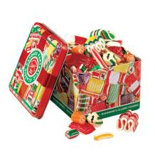 Hammond's Candies - Old Fashioned Holiday Classics Mix Hard Candy in Decorative Tin, Includes Assorted Ribbon, Pillow, & Hard Candies, Handcrafted in the USA