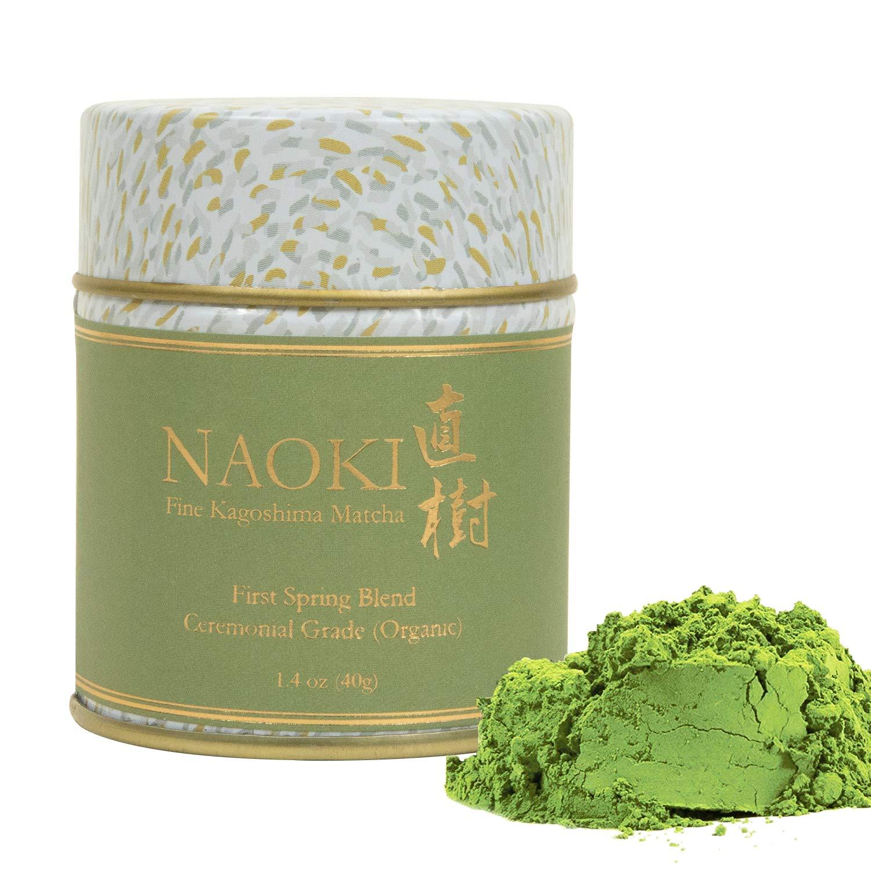 Naoki Matcha (Organic First Spring Blend, 40g / 1.4oz) - Authentic Japanese Matcha Green Tea Powder Organic Ceremonial Grade from Kagoshima, Japan