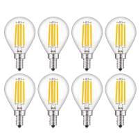 CRLight 4W Dimmable Candelabra LED Globe Bulb 45W Equivalent 450LM, Soft White 3000K E12 Base, Vintage Edison Tiny G14 LED Globular Bulb, Chandelier Ceiling Fan Vanity Mirror Light Bulbs, 8 Pack